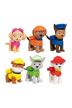 Paw Patrol 6 Pack Puzzle Erasers