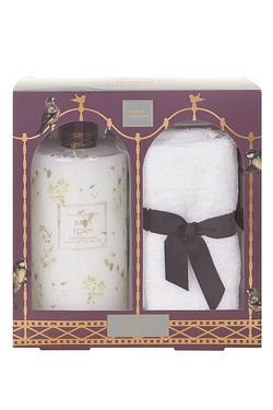 Pear Tree Bath Foam and Face Cloth Set