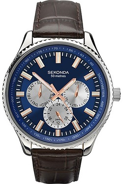Gents Sekonda Blue Dial Watch