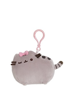 Pusheen With Bow Backpack Clip