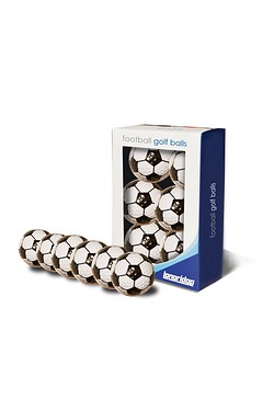 Football Pattern Golf Balls 6 Pack