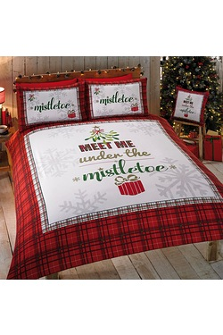 Meet Me Under The Mistletoe Duvet Set