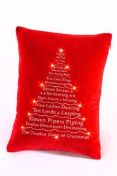 The 12 Days Of Christmas Light-Up Cushion