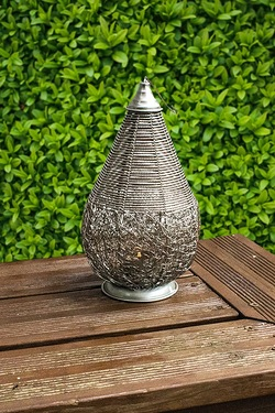 Teardrop Wire Mesh Candle Lantern