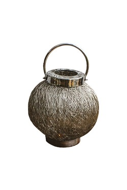 Sphere Metal Handle Wire Mesh Lantern