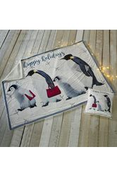 Happy Holiday Penguins Throw