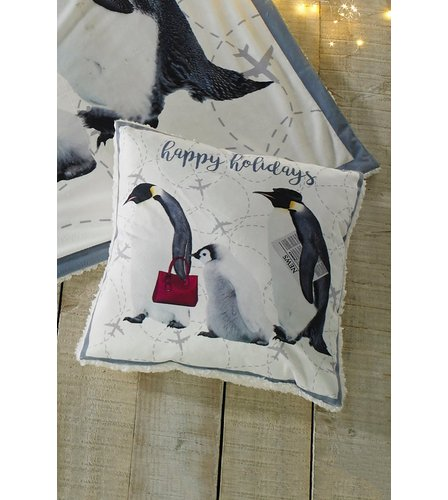 Image for Happy Holiday Penguin Cushion Cover from ace