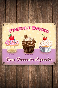 Your Favourite Cupcakes Sign