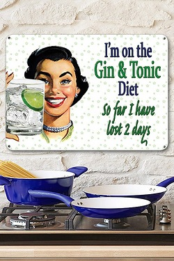 Gin and Tonic Diet Sign