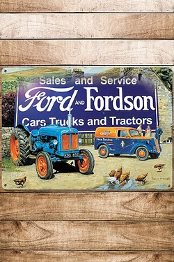 Vintage Tractors and Farming Sign