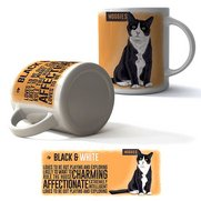 Black and White Cat Boxed Mug