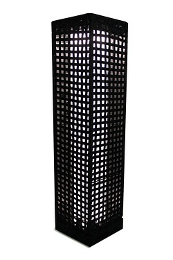 Rectangle Solar Rattan Light - Tall