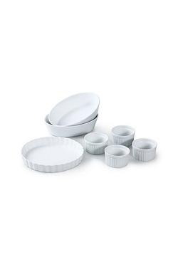 7 Piece White Baking Set