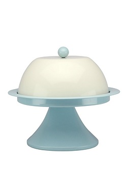 Vintage Blue Cake Stand and Lid