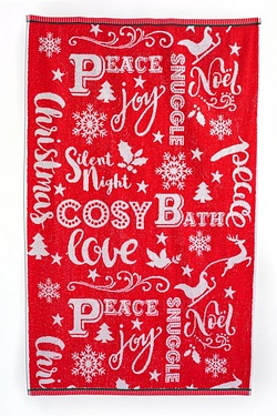 Christmas Bath Time Towels