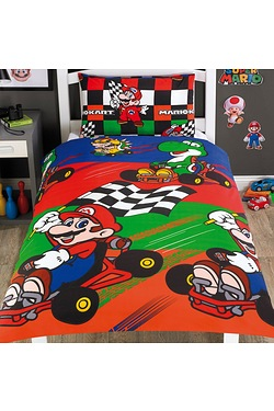 Nintendo Mario Champs Single Duvet Set