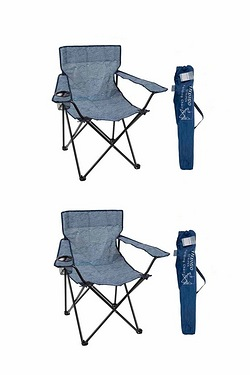 Pack of 2 Summit Striped Folding Chair
