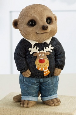 Meerkat - Christmas Jumper - Blue