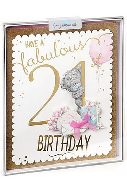 Me To You 21st Birthday Boxed Card