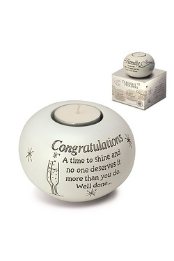 Said with Sentiment Tea Light - Congratulations