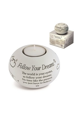 Said with Sentiment Tea Light - Follow your Dreams