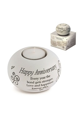Said with Sentiment Tea Light - Happy Anniversary