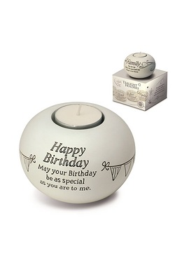 Said with Sentiment Tea Light - Happy Birthday