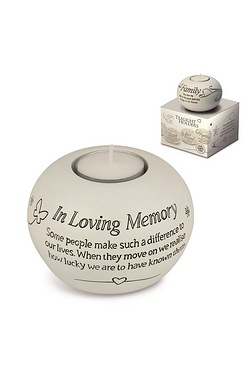 Said with Sentiment Tea Light - In Loving Memory