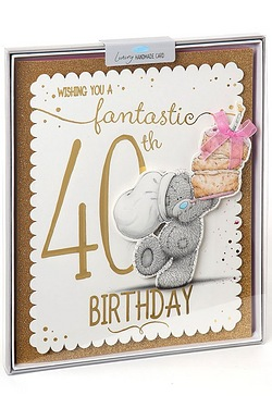 Me To You 40th Birthday Boxed Card