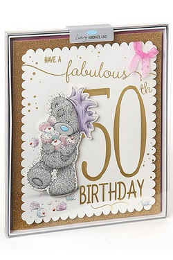 Me To You 50th Birthday Boxed Card