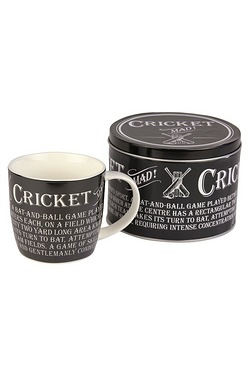 Mugs in Tins Gift Set - Cricket