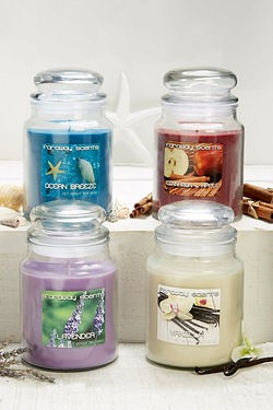 Set of Four Far Away Large Jar Candles