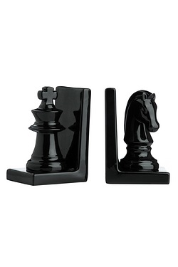 Set of 2 Chess Piece Bookends