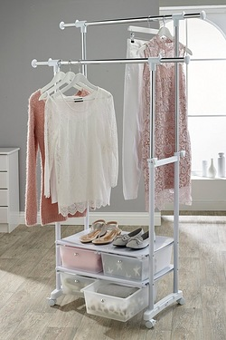 Clothes Rack With Drawers
