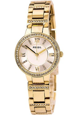 Ladies Gold Fossil Watch