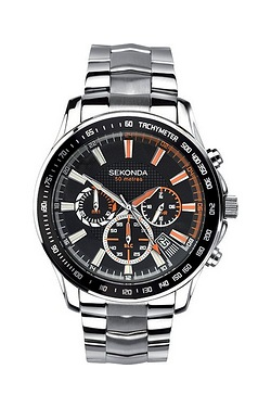 Gents Silver and Black Dial Sekonda...