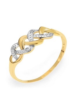 9ct Yellow Gold Diamond Set Entwine...