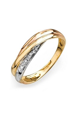 9ct 3 Colours Gold and Diamond Set ...
