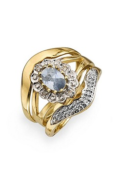 9ct Yellow Gold Diamond and Blue To...