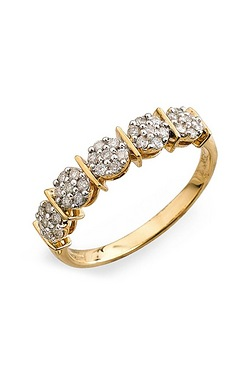 9ct Yellow Gold Diamond Set Eternit...