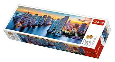 Compare prices for 1000 Piece Panorama Jigsaw Puzzle - Miami After Dark