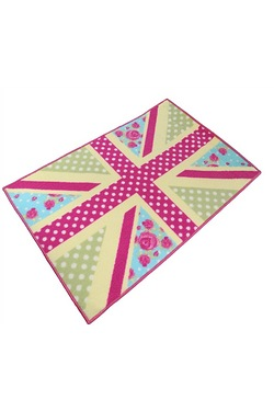 Shabby Chic Union Jack Design Mat