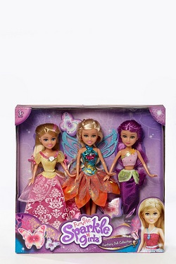 Sparkle Girlz 3 Doll Set