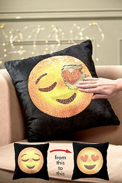 Emoji Sequin Cushion