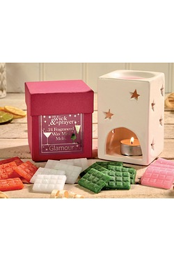 Glamour Wax Melts and Burner Gift Set