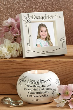 Frame and Candle Set - Daughter