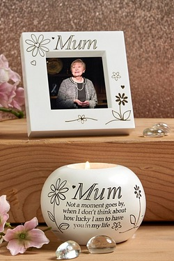 Frame and Candle Set - Mum