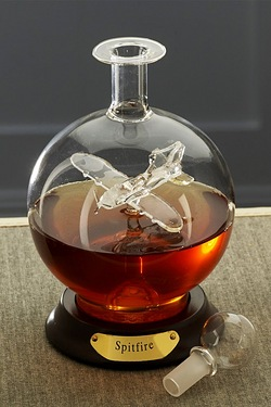 Glass Decanter With Plane - Spitfire