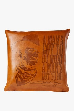 Leather John Wayne Cushion