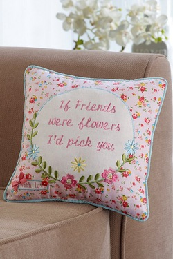 Buttons And Bows Cushion - Friends